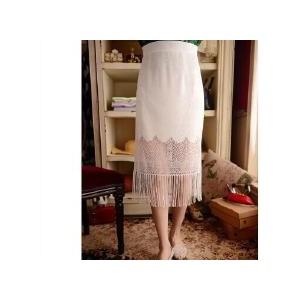 透视长款半身裙