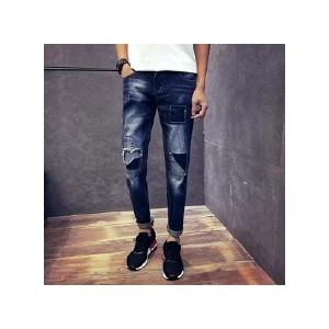 弹力男士牛仔裤